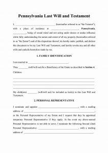 pennsylvania last will and testament form